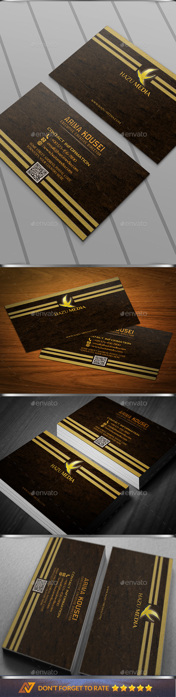 GraphicRiver Simple Gold Corporate Bussiness Card 10357207
