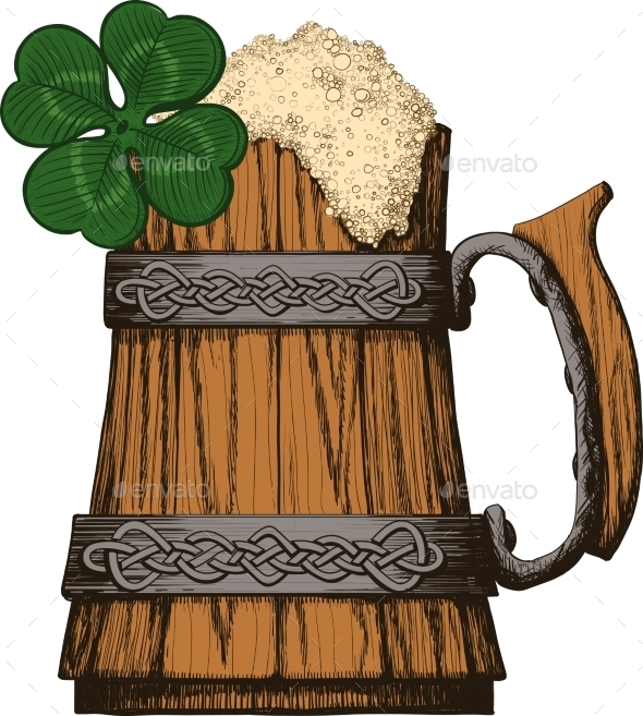 GraphicRiver Irish Beer Mug 10357402