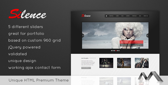 Silence - Premium HTML Template - Photography Creative