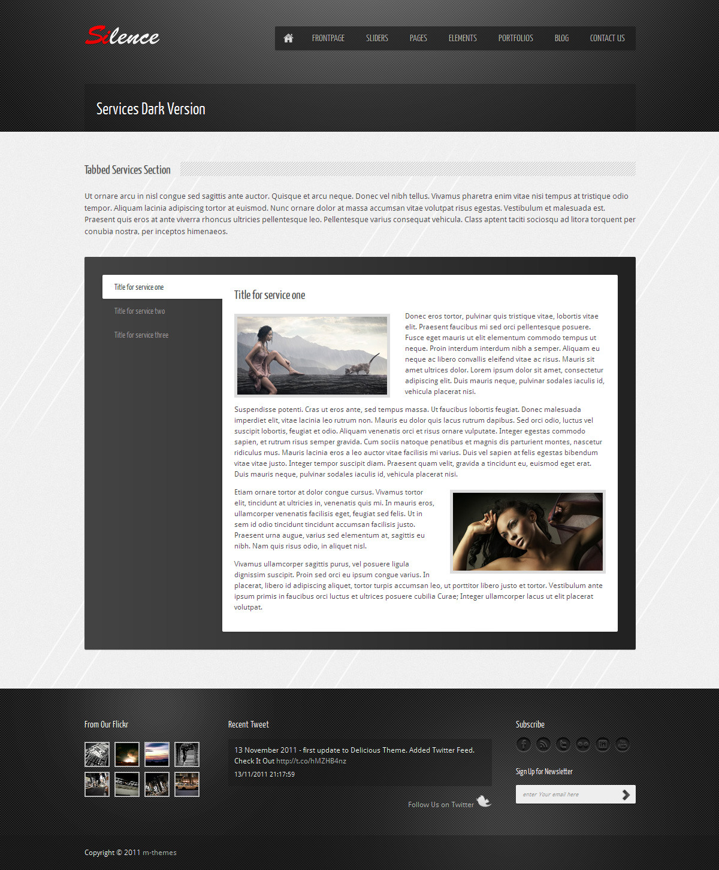 Silence - Premium HTML Template