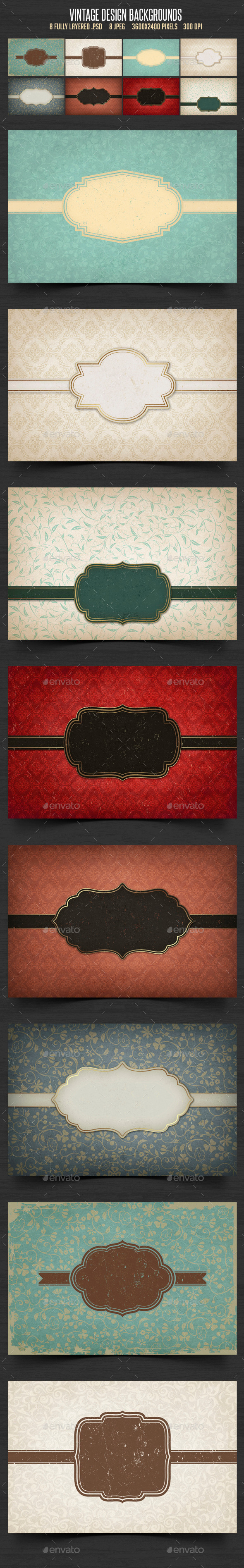 GraphicRiver Vintage Design Backgrounds 10357521