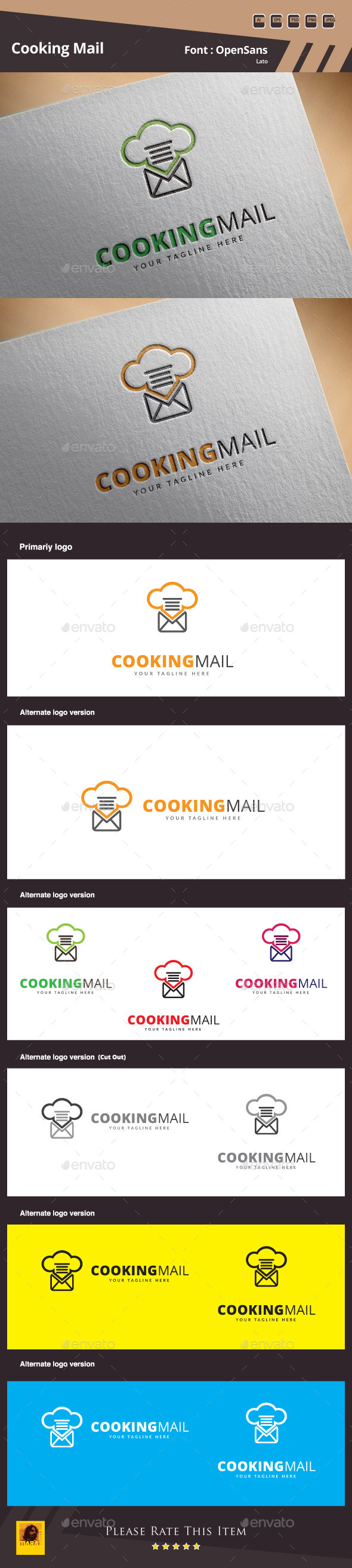 GraphicRiver Cooking MailLogo Template 10357655