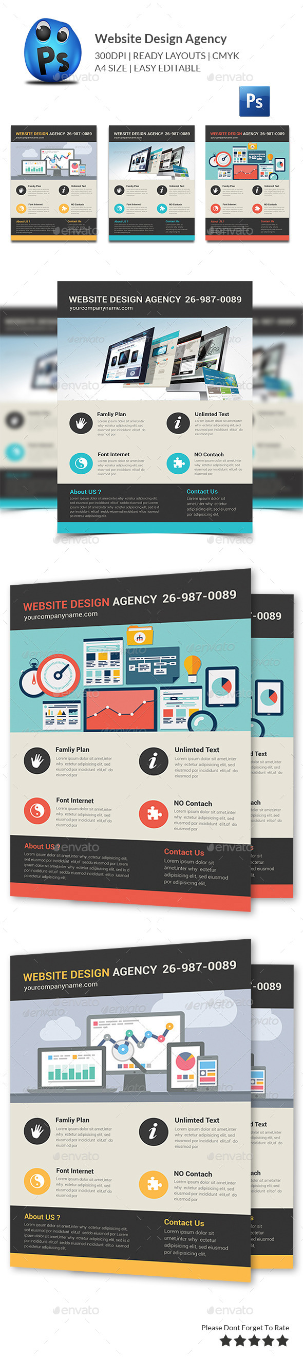 GraphicRiver Website Design Agency Flyer 10357659