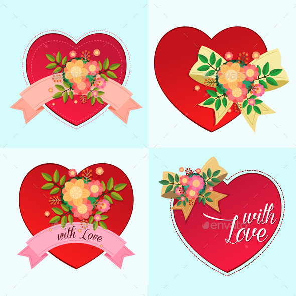 GraphicRiver Various Decorative Heart Symbols 10357672