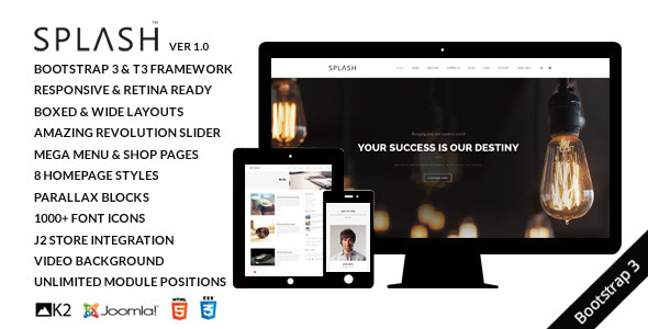 ThemeForest Splash Multipurpose Joomla Template 10358010