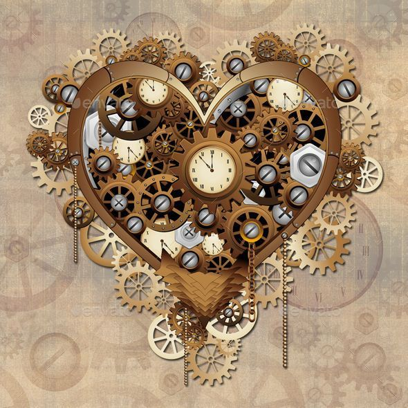 GraphicRiver Steampunk Heart Love 10358016