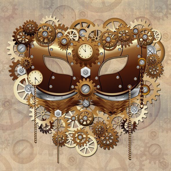 Steampunk Carnival Party Mask