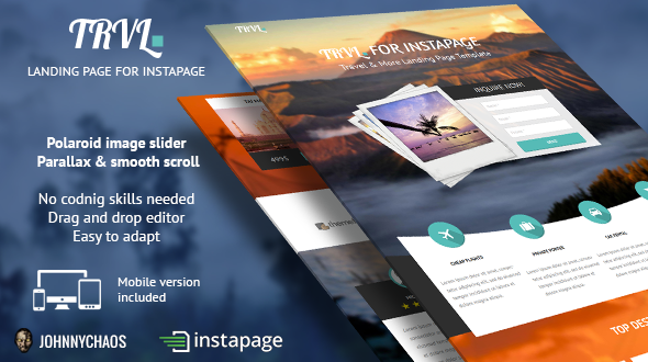 ThemeForest Trvl Premium Travel Instapage Landing Page 10358170
