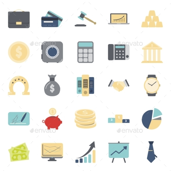 GraphicRiver Buisiness and Finance Icons 10358202