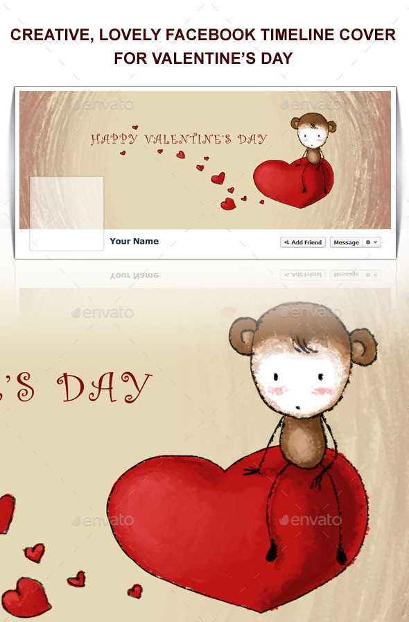 cute valentine's day facebook cover