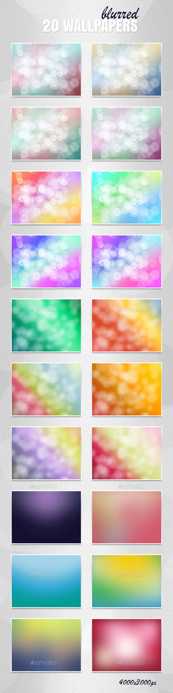 GraphicRiver Blurred Backgrounds Set 10358260