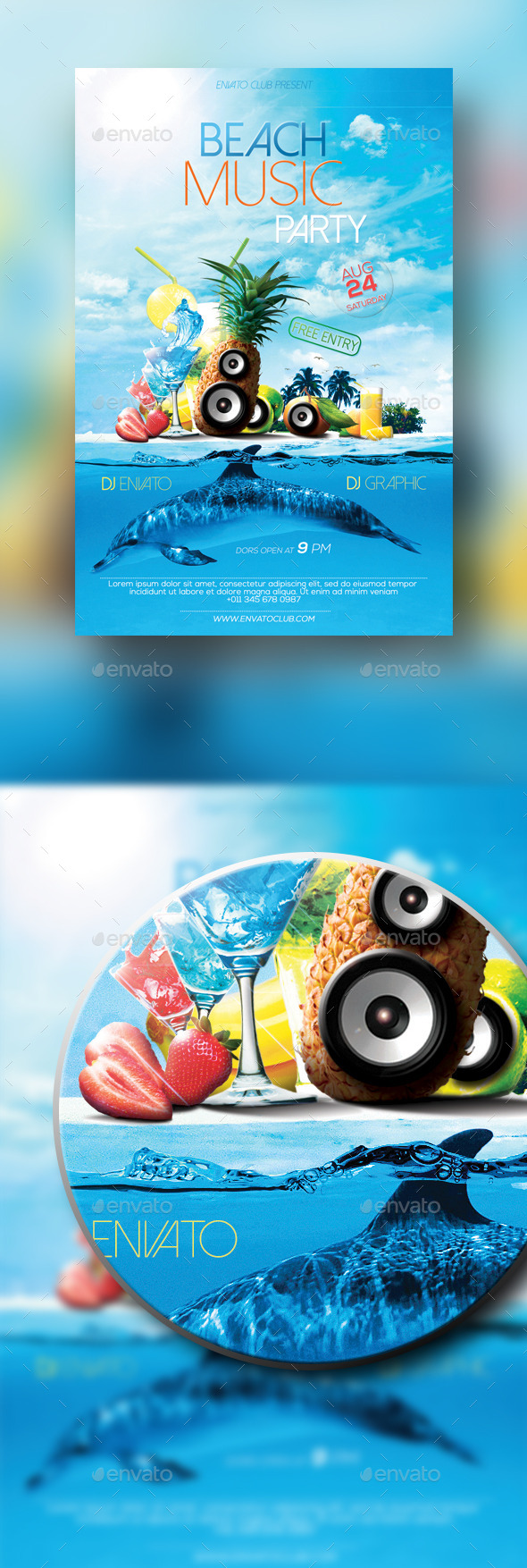 GraphicRiver Beach Music Party 10358263
