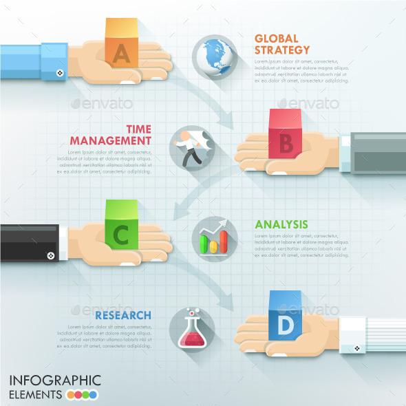 GraphicRiver Business Hands Teamwork Infographics 10358315