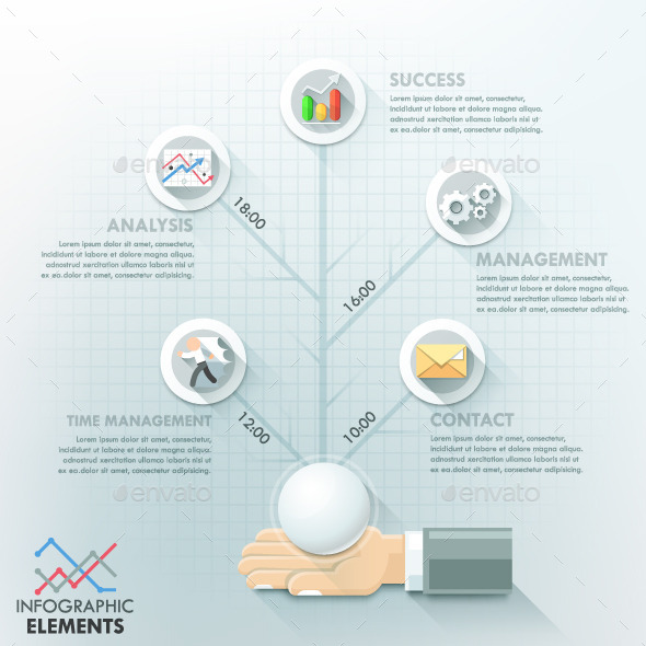 GraphicRiver Business Hands Teamwork Infographics 10358333