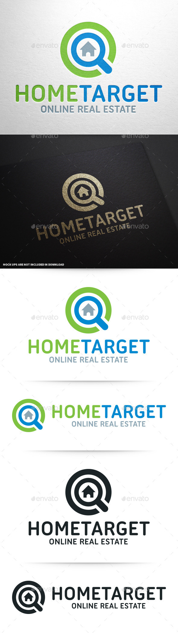 GraphicRiver Home Target Logo Template 10358467