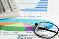 Financial accounting stock market graphs and charts analysis - PhotoDune Item for Sale