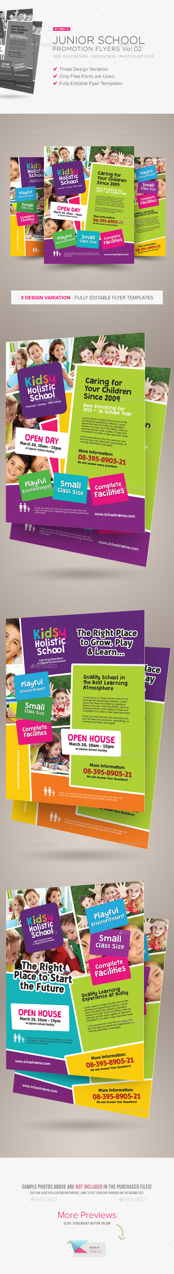GraphicRiver Junior School Promotion Flyers Vol.02 10358813