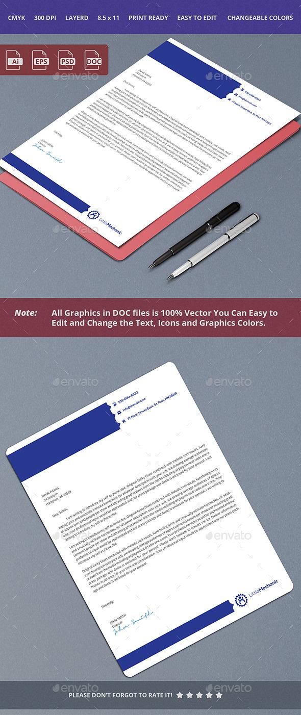 GraphicRiver Blue Letterhead Design 10358841