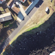 Flying over the Typical Small Town - VideoHive Item for Sale