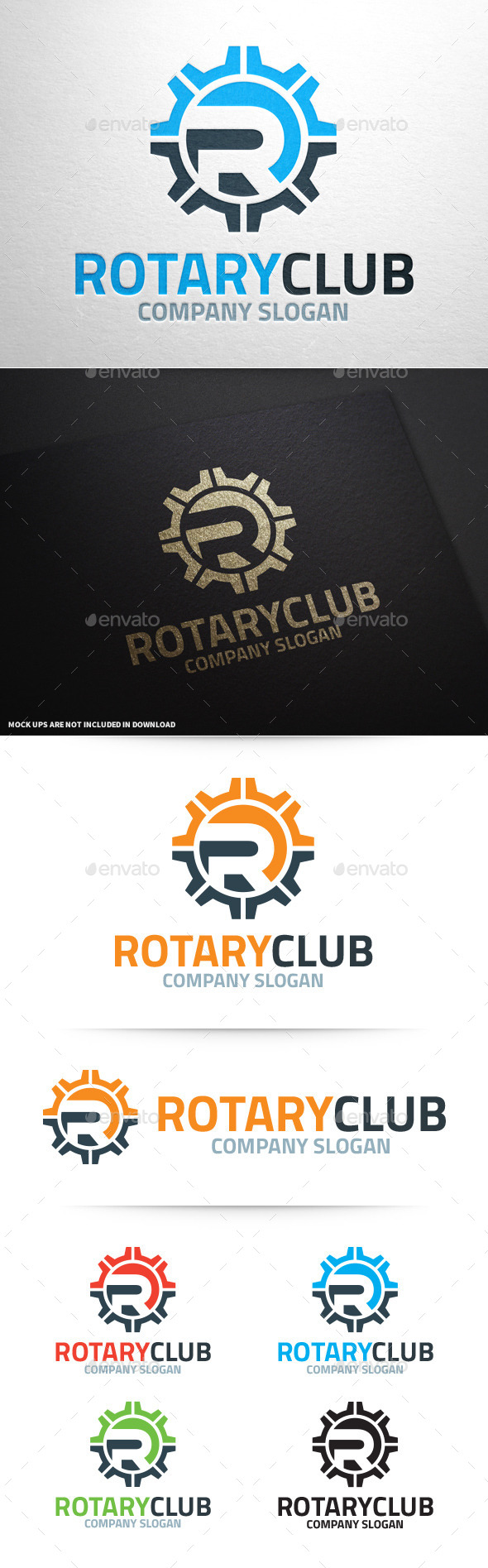 GraphicRiver Rotary Club Letter R Logo 10359327