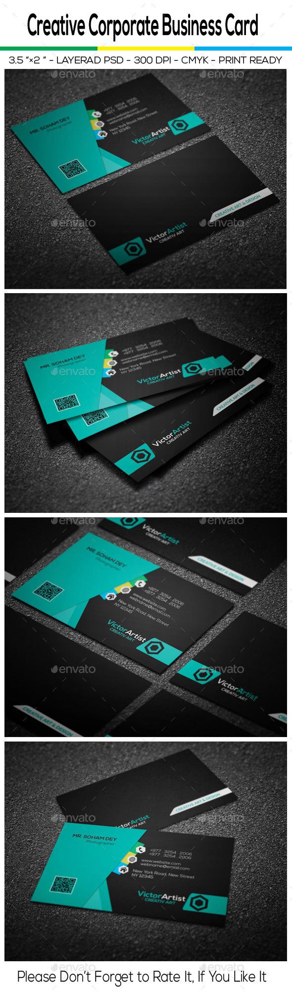 GraphicRiver Creative Corporate Business Card 10359385