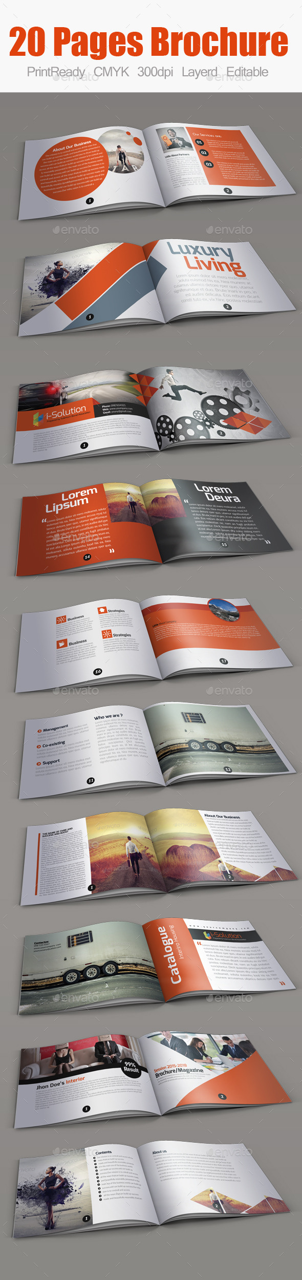 GraphicRiver Multiuse Minimal Square Brochure 10359540