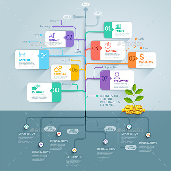 GraphicRiver Business Tree Timeline Infographics 10359574