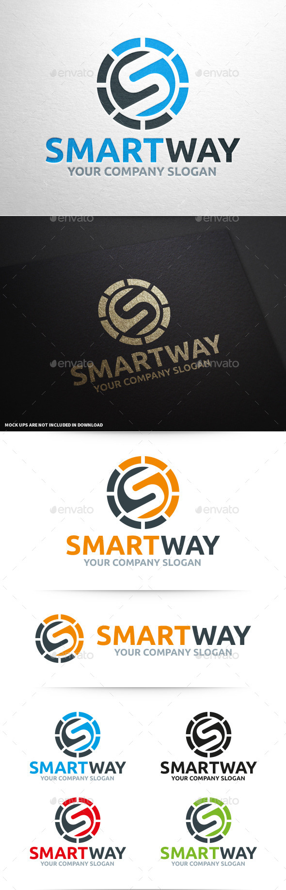 GraphicRiver Smart Way Letter S Logo 10360207