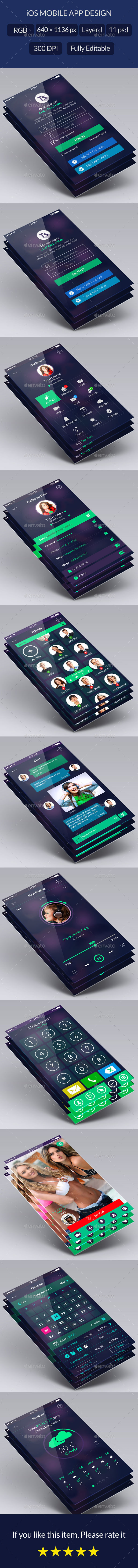 GraphicRiver Clean Flat App UI Design Kit 10360211