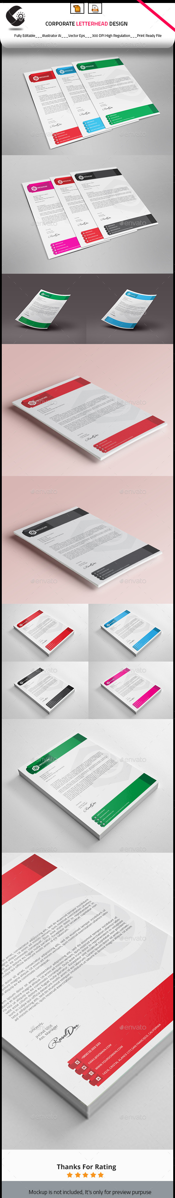 GraphicRiver Corporate Letterhead Design 10360913