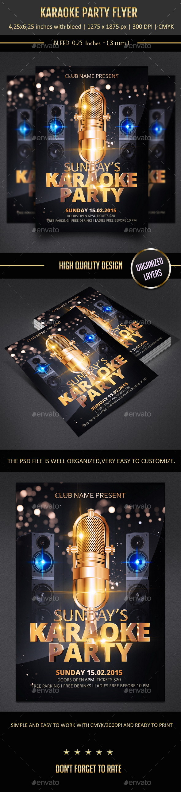 GraphicRiver Karaoke Party Flyer 10360917