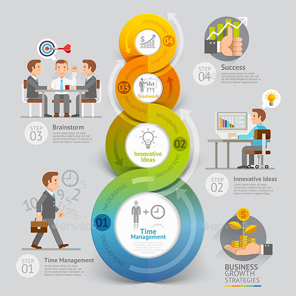 Business Growth Strategies Infographics Concept