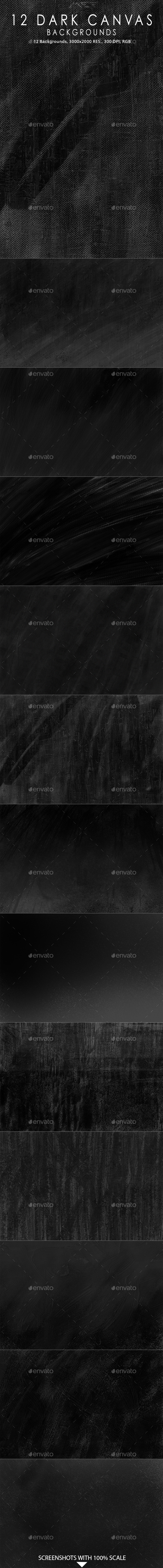 GraphicRiver 12 Dark Canvas Backgrounds 10360988