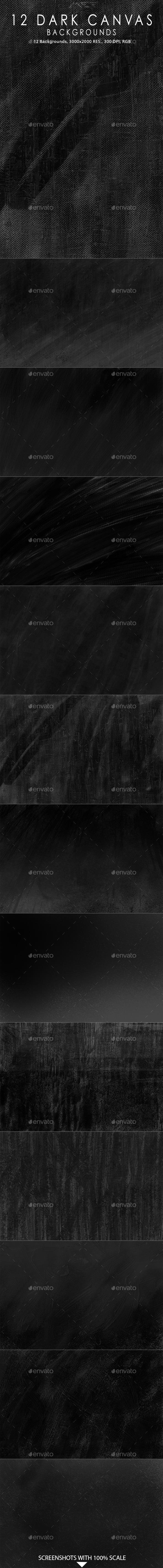 GraphicRiver 12 Dark Canvas Backgrounds 10360988