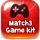 Match3 Puzzle Games Assets V1 - GraphicRiver Item for Sale
