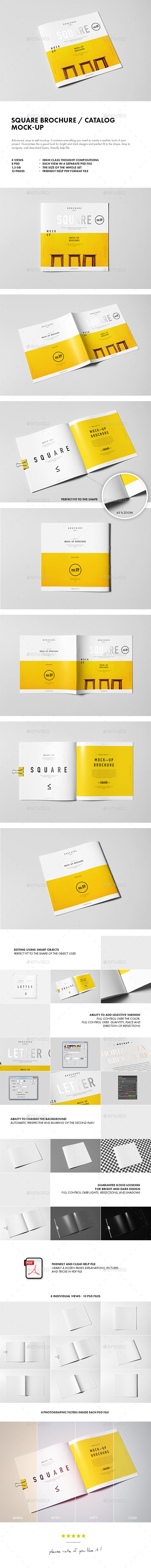 GraphicRiver Square Brochure Catalog Booklet Mock-up 10361134
