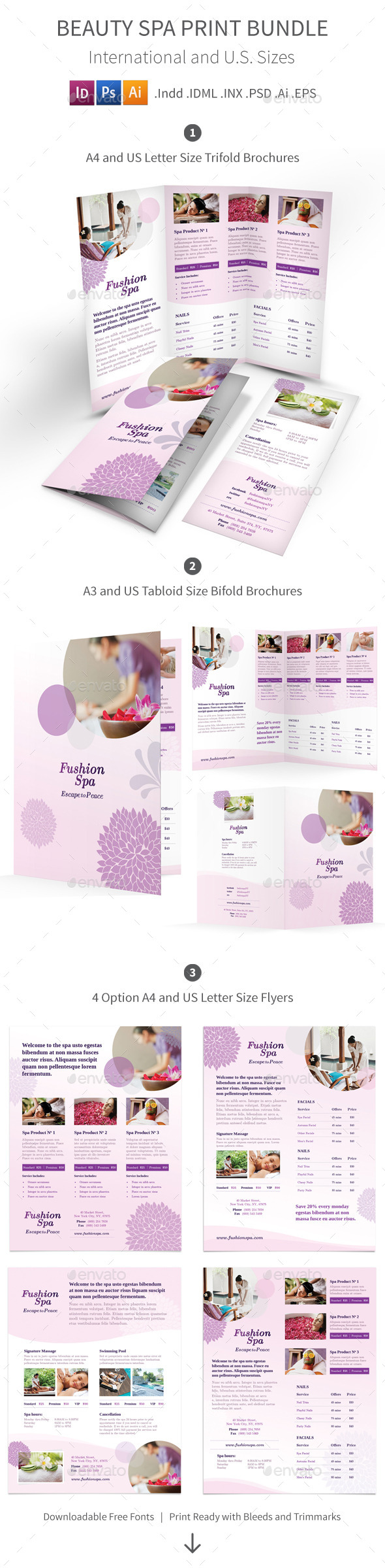GraphicRiver Beauty Spa Print Bundle 10361161