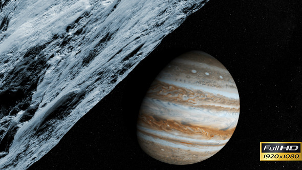 Jupiter s Moon Fly Through