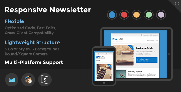 BlauMail - Responsive Newsletter - Newsletters Email Templates