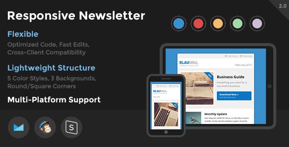 BlauMail - Responsive Newsletter - Newsletters Email Templates