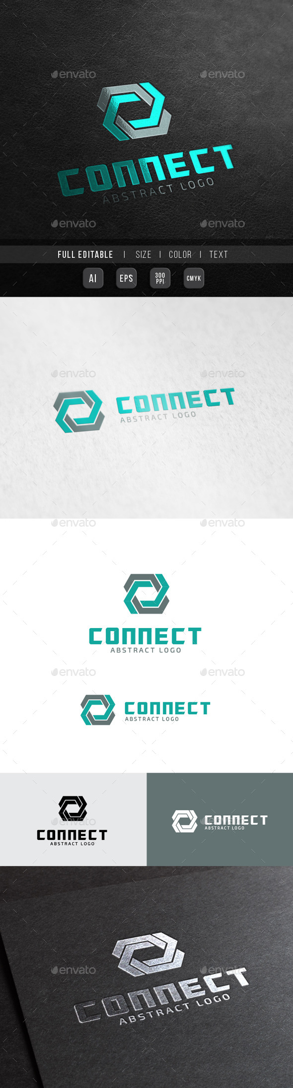 GraphicRiver Connect Tech 8 abstract 10362710
