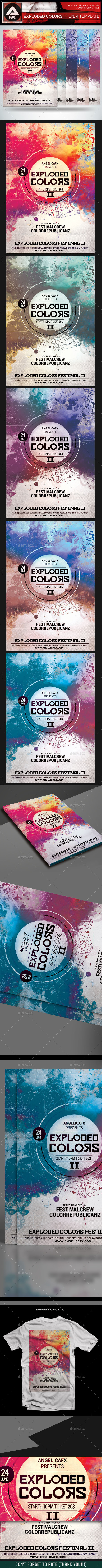 GraphicRiver Exploded Colors II Flyer Template 10362715