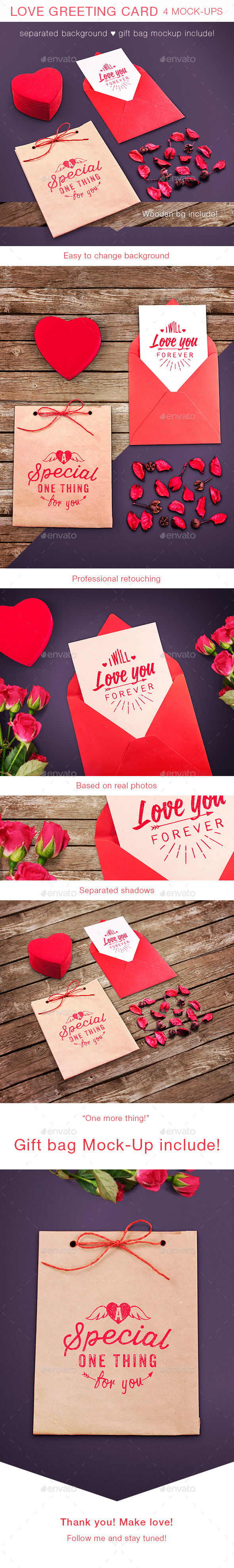 GraphicRiver Love Greeting Card Mock-up 10362718