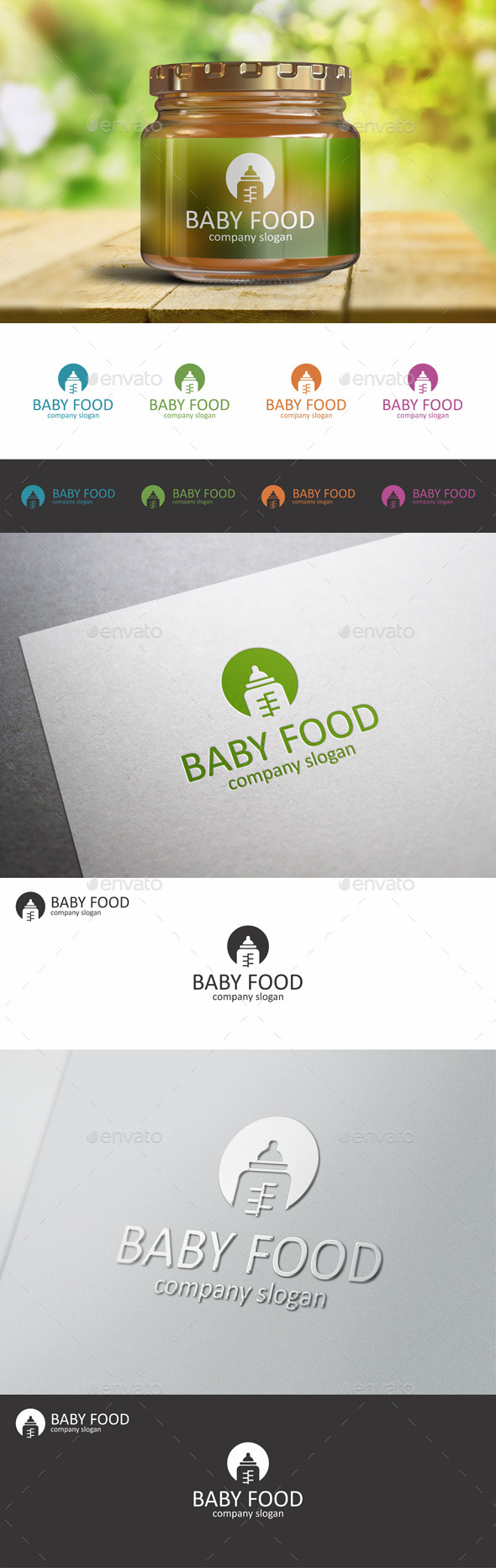 GraphicRiver Baby Food Child Bottle Logo 10362720