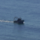 Fishing Boat Floating on the Ocean Waves - VideoHive Item for Sale