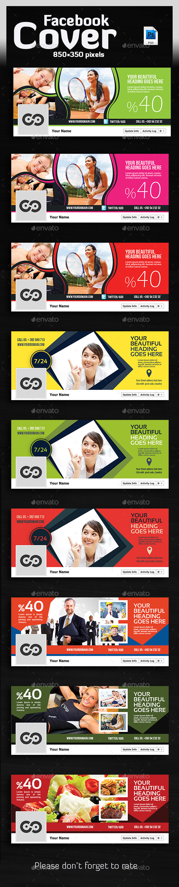 GraphicRiver Bundle Facebook Timelines Covers 10362799