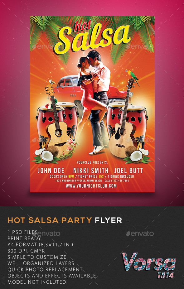 GraphicRiver Hot Salsa Party Flyer 10362839