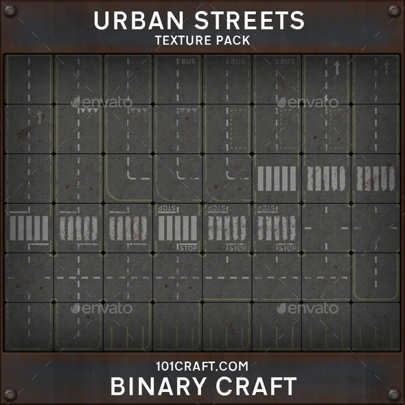 3DOcean Urban Streets Texture Pack 10362894