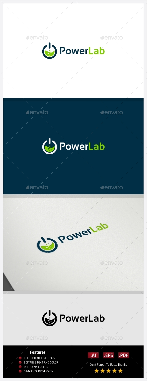 GraphicRiver Power Lab Logo 10362973