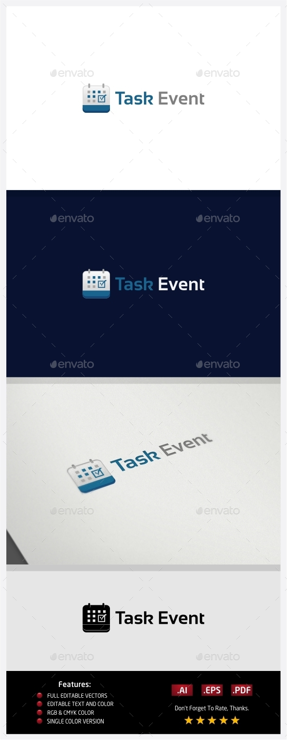 GraphicRiver Task Event Logo 10363057